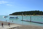 Mapua wharf with the ferry that crosses to my favourite childhood beach, Rabbit Island