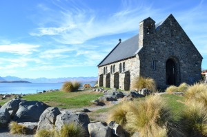 The beautiful church at Lake Tekapo
