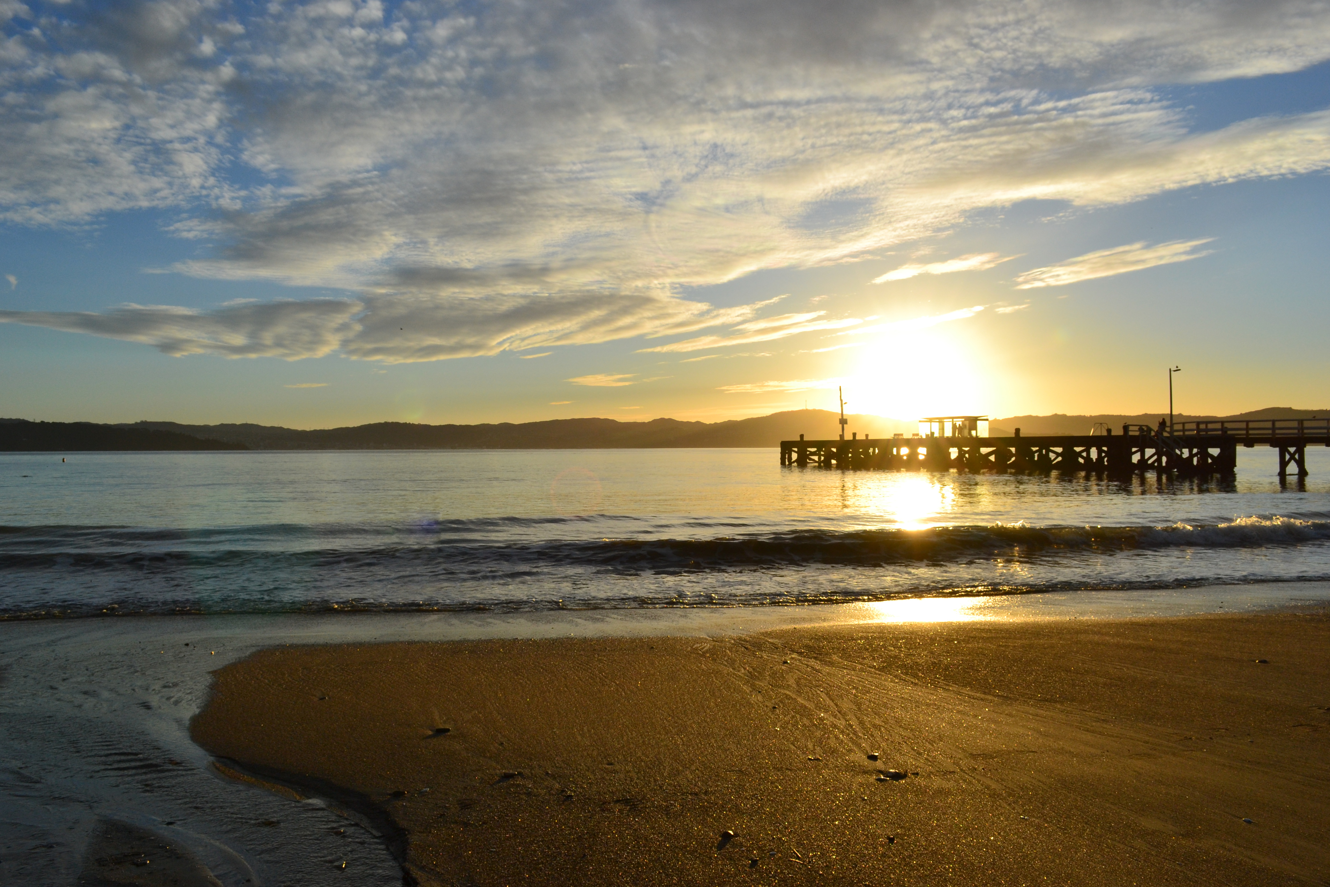 Days Bay, Eastbourne sunset